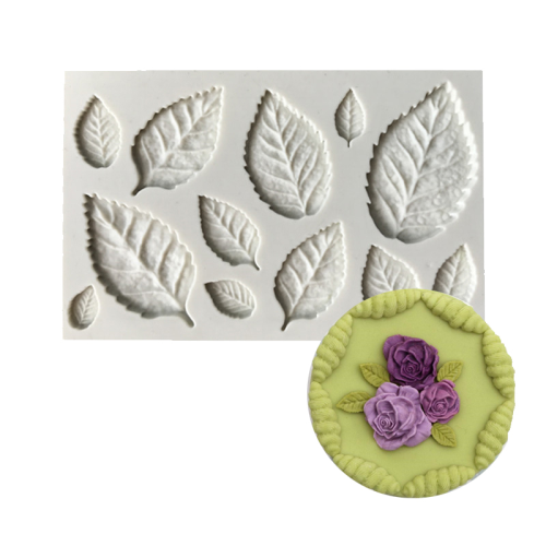 Leaves 12pc Assorted Sizes Silicone Mould