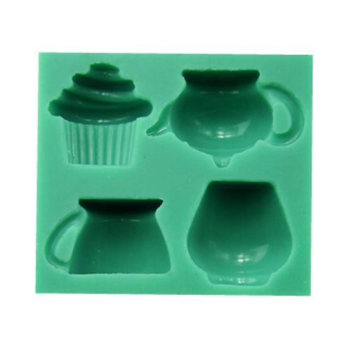 Tea Time 4pc Silicone Mould