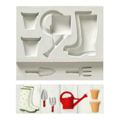 Garden Themed Silicone Mould 6pc