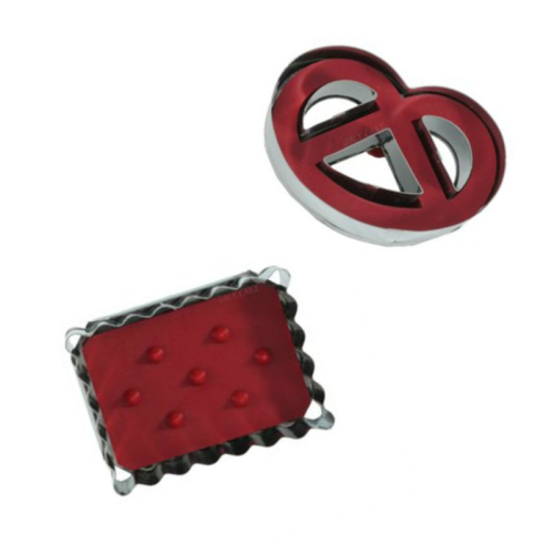 Pretzel & Biscuit 2pc Linzer Cookie Cutter Set