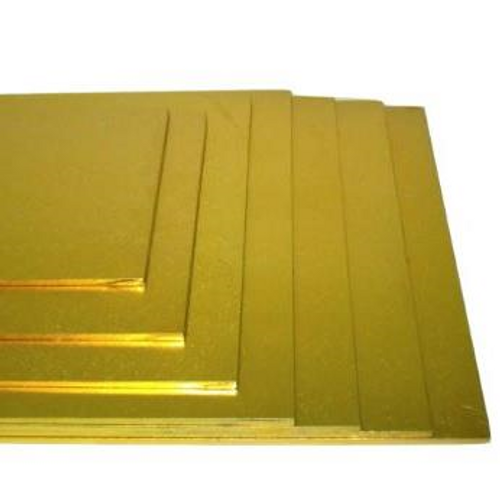 Gold Masonite Rectangle cake boards