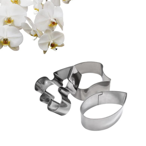 Orchid Phalaenopsis 3pc Tin Plate Cutter Set