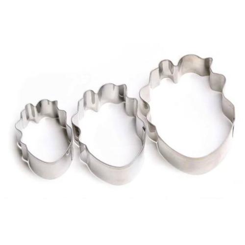 Parrot / Tulip / Peony 3pc Tin Plate Cutter Set