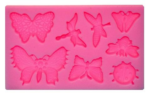 Butterflies & Insects 8pc Silicone Mold