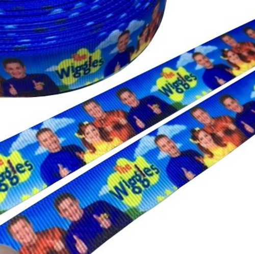The Wiggles Novelty Printed Ribbon 22mm (per 1/m)
