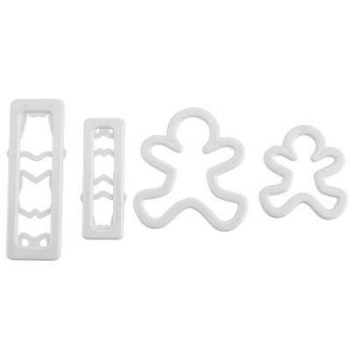 Gingerbread Man Cutters Set 4 Piece
