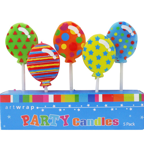 Balloons 5pc Candle Se