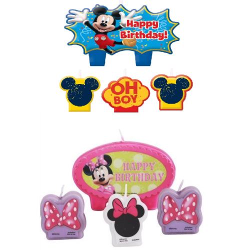 Mickey mouse Cake Candles Set