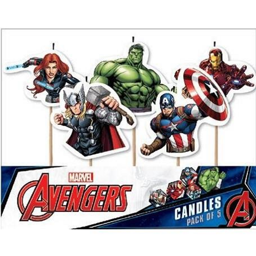 Avengers 5pc Candle Set