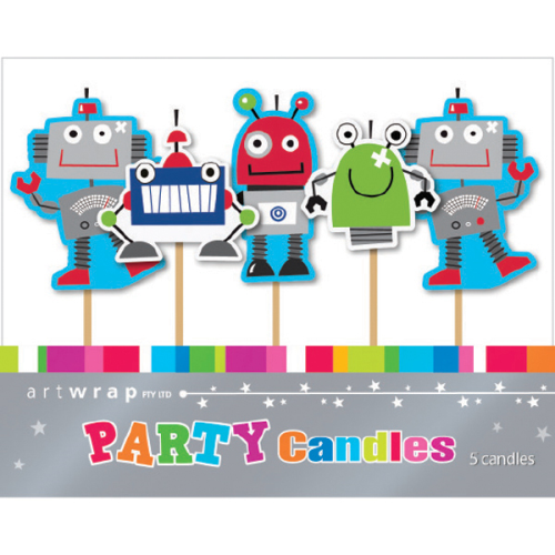 Robots 5pc Candle Set