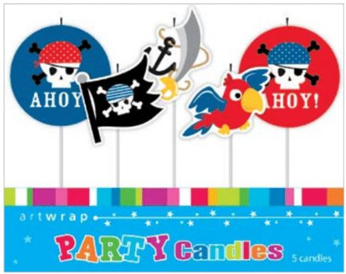 Pirates 5pc Candle Set