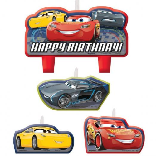 lighting Mc queen Cars 3 candles
