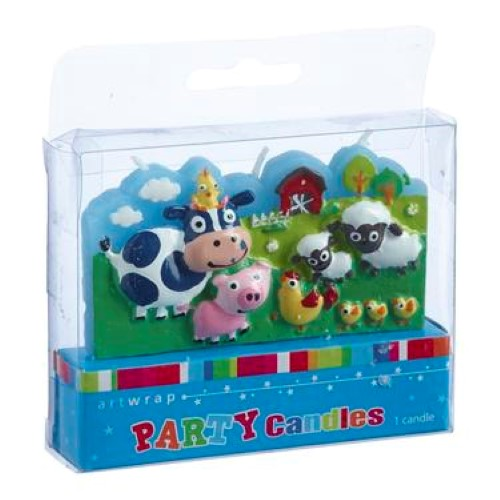 Farm Yard Animals Party Candle