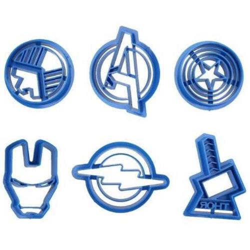 Superheros Symbols 6pc Plastic Cutter Set