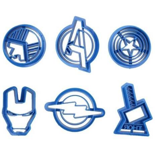 Superheros Symbols 6pc Plastic Cutter Set
