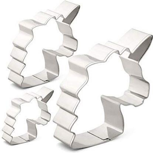 Unicorn Head 3pc Tin Plate Cutter Set