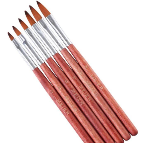Paint Brush  Set 6pc - Wooden Brush