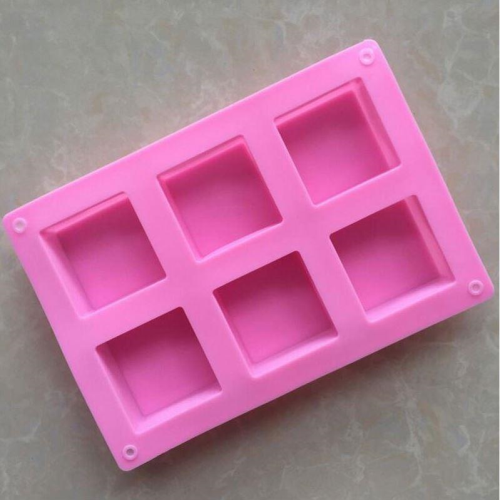 Squares Silicone Mold 6 Cavity