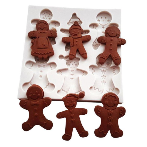 Gingerbread Men Silicone Mold