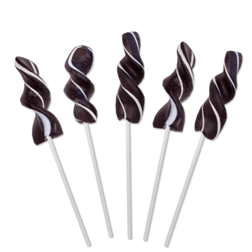 Twirly Lollipop Black and White - Small