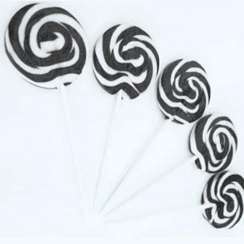 Swirl Lollipop Black and White - Small