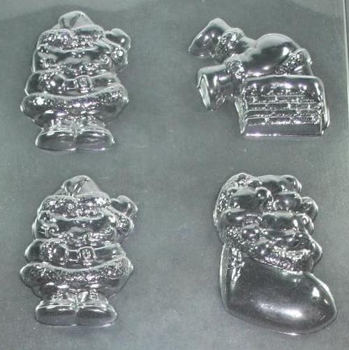 Santa's and Boot Christmas Chocolate Mold #87