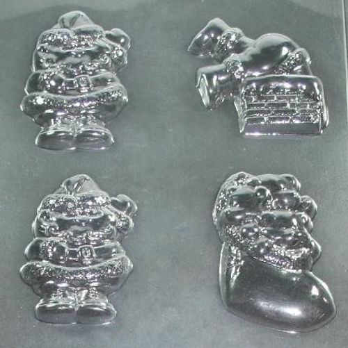 Santa's and Boot Christmas Chocolate Mold #87