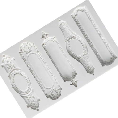 Vintage Plaques / Frames 5pc Silicone Mold