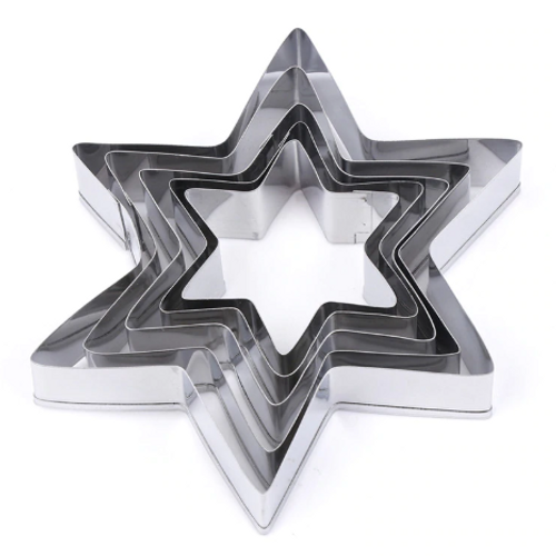 Star Cutter Tin Plate 5pc Set