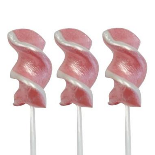 Twirly Lollipop Pink Shimmer and White - Small