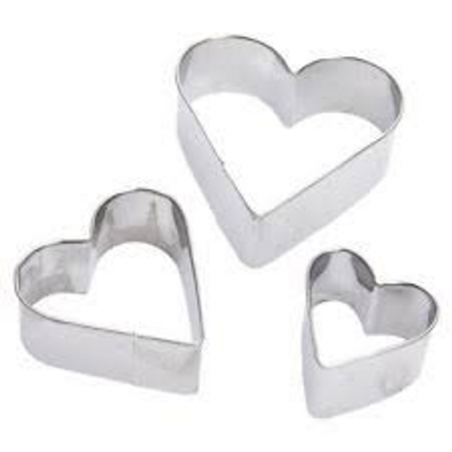 Lovehearts 3pc Tin Plate Cutter