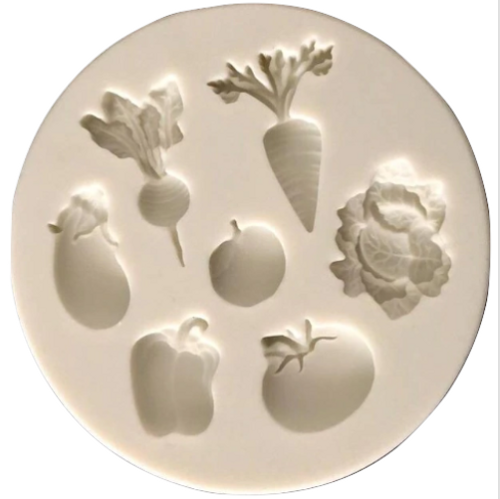 Vegetables 7pc Silicone Mold