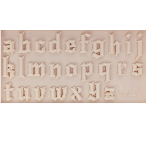 MEDIEVAL LOWERCASE Alphabet Silicone Mold