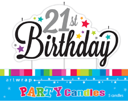 Artwrap Party Candles - 21st Birthday