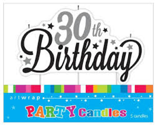 Artwrap Party Candles - 30th Birthday