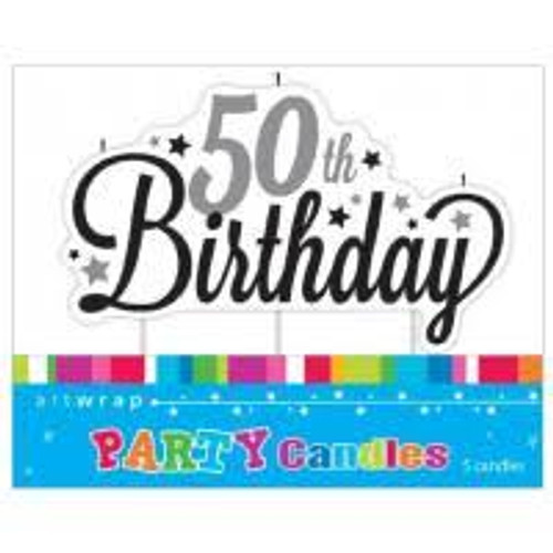 Artwrap Birthday Candles - 50th Birthday