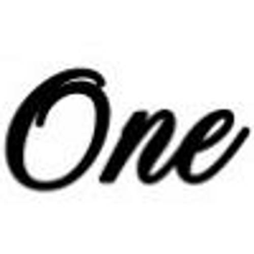 'One' Large Font EMBOSSER