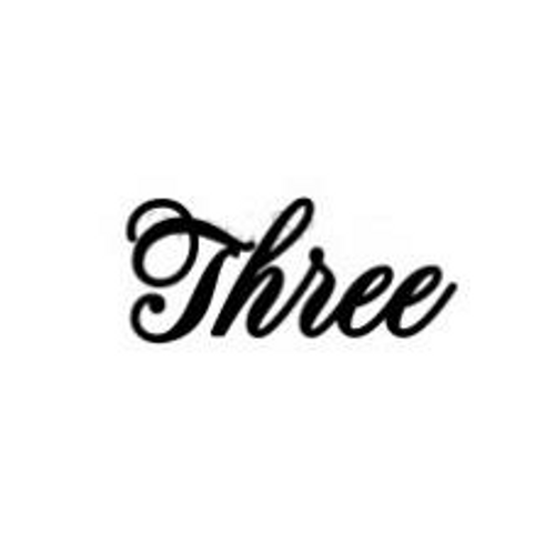 'Three' Small Font EMBOSSER