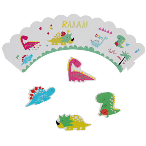 Happy Dinos Cupcake Wraps 12pc