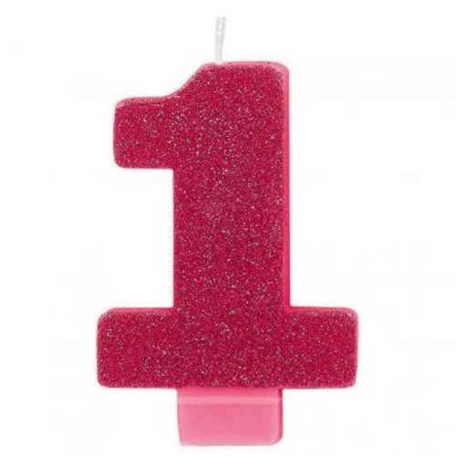 Glitter Pink Candle #1