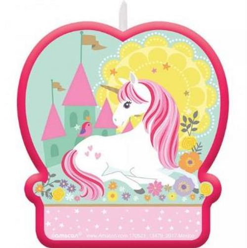 Unicorn Birthday Candle