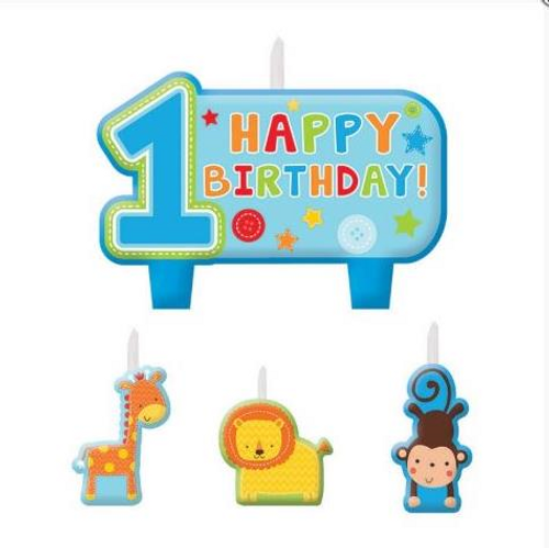 One Wild Boy Birthday Candle Set