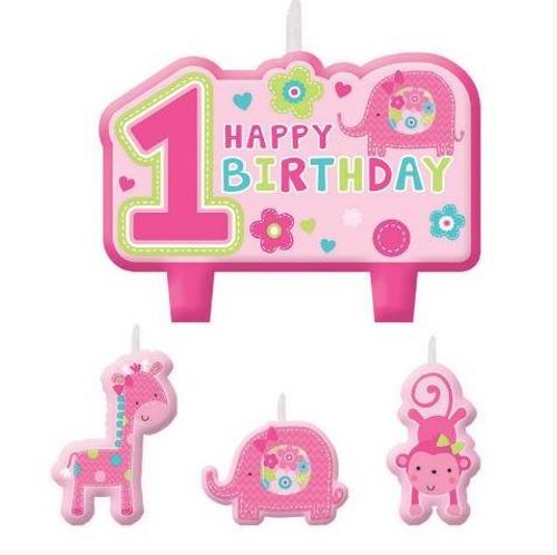 One Wild Girl Birthday Candle Set