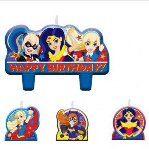Superhero Girls Birthday Candle Set