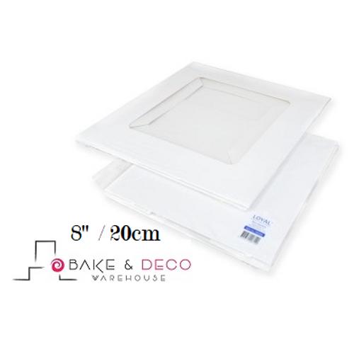"""8"""" White Cake Boxes"""