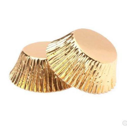 Foil Mini Cupcake Cases 40pk - GOLD