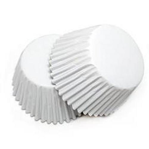 Foil Mini Cupcake Cases 40pk - WHITE
