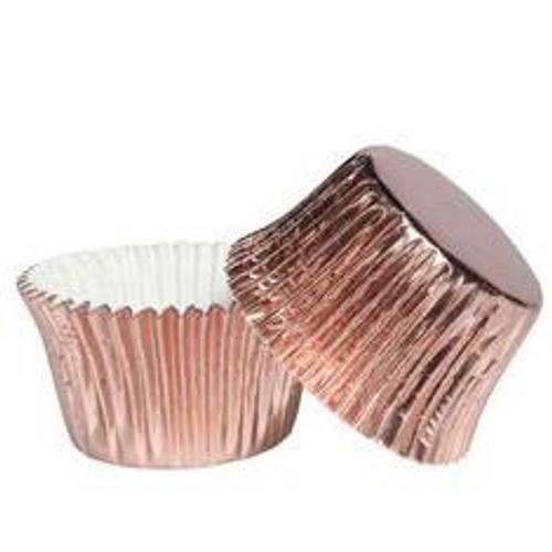 Mini Cupcake Cases Foil - ROSE GOLD 40pk
