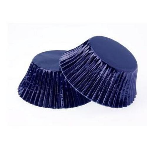 Mini Cupcake Cases  Foil - NAVY 40pk