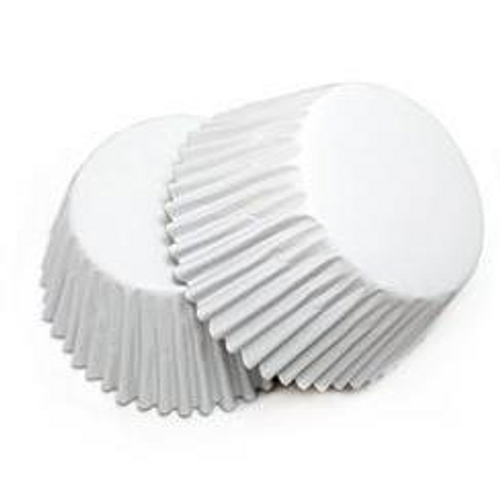Foil Metallic Cupcake Cases 25pk - WHITE